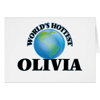 World's Hottest Olivia Greeting Cards