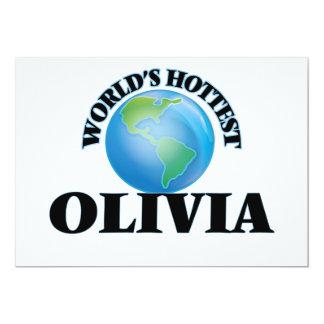 World's Hottest Olivia Personalized Invites