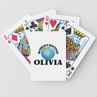 World's Hottest Olivia Bicycle Playing Cards