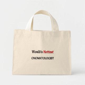 Worlds Hottest Onomatologist Canvas Bag
