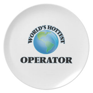 World's Hottest Operator Party Plate