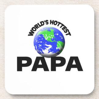 World's Hottest Papa Beverage Coasters
