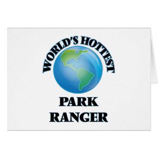 World's Hottest Park Ranger Greeting Card