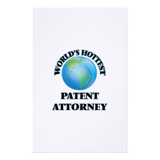 World's Hottest Patent Attorney Customized Stationery