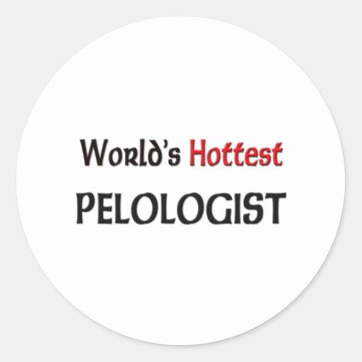 Worlds Hottest Pelologist Round Stickers