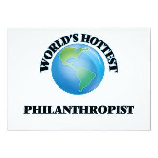 "World's Hottest Philanthropist 5"" X 7"" Invitation Card"