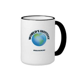 World's Hottest Philologist Ringer Coffee Mug