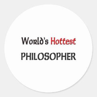 Worlds Hottest Philosopher Classic Round Sticker