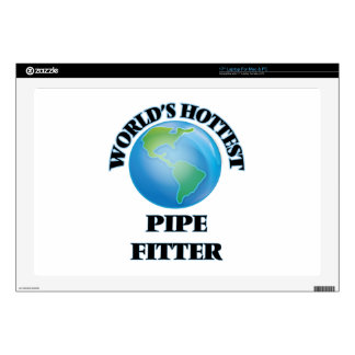 """World's Hottest Pipe Fitter 17"""" Laptop Decal"""