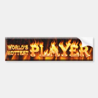 worlds hottest player bumper sticker