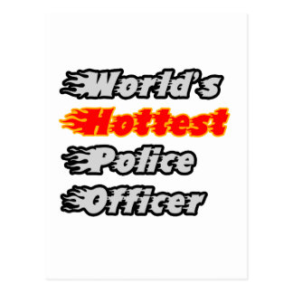 World's Hottest Police Officer Postcard