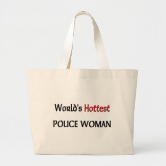 Worlds Hottest Police Woman Large Tote Bag