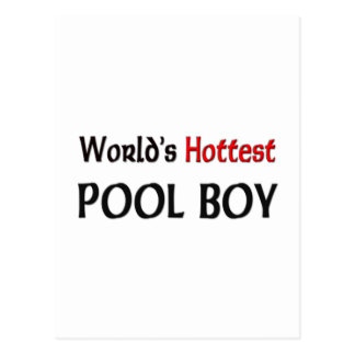 Worlds Hottest Pool Boy Post Card