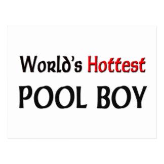 Worlds Hottest Pool Boy Postcard