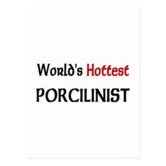 Worlds Hottest Porcilinist Post Card