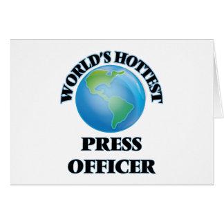 World's Hottest Press Officer Card