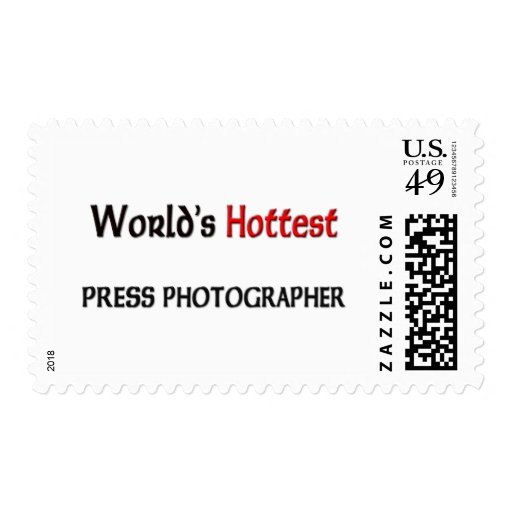 Worlds Hottest Press Photographer Stamps