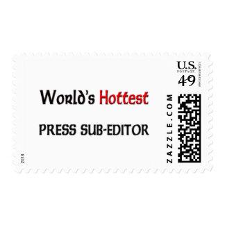 Worlds Hottest Press Sub-Editor Postage Stamp