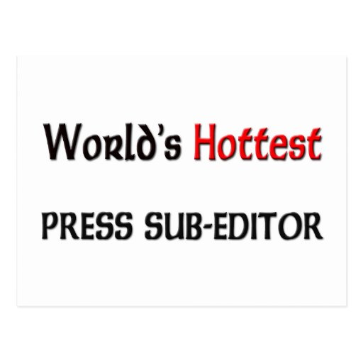 Worlds Hottest Press Sub-Editor Post Card