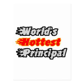 World's Hottest Principal Postcard