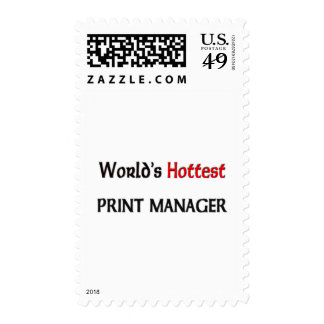 Worlds Hottest Print Manager Postage Stamps
