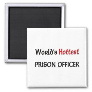 Worlds Hottest Prison Officer 2 Inch Square Magnet
