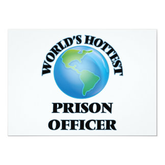 World's Hottest Prison Officer Personalized Invitation