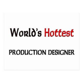 Worlds Hottest Production Designer Postcard
