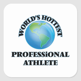 World's Hottest Professional Athlete Square Stickers
