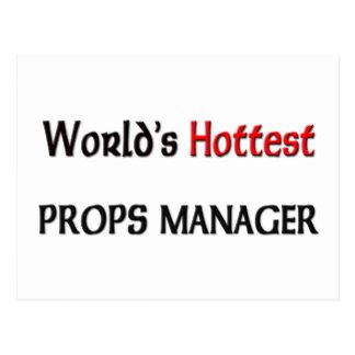Worlds Hottest Props Manager Postcard