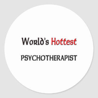 Worlds Hottest Psychotherapist Classic Round Sticker