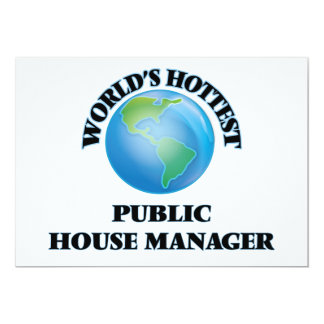"""World's Hottest Public House Manager 5"""" X 7"""" Invitation Card"""
