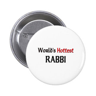 Worlds Hottest Rabbi 2 Inch Round Button