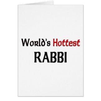 Worlds Hottest Rabbi Greeting Card