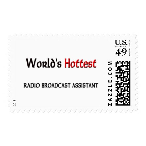 Worlds Hottest Radio Broadcast Assistant Stamps