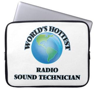 World's Hottest Radio Sound Technician Computer Sleeves