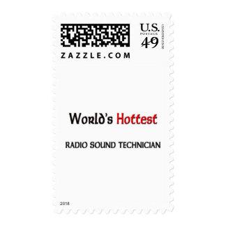Worlds Hottest Radio Sound Technician Postage Stamps