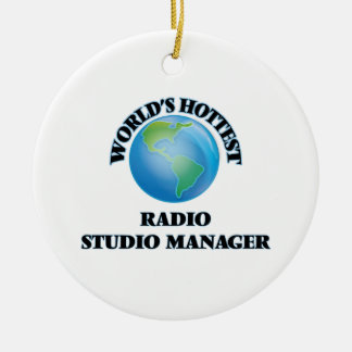 World's Hottest Radio Studio Manager Christmas Tree Ornaments