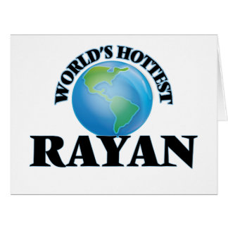 World's Hottest Rayan Large Greeting Card