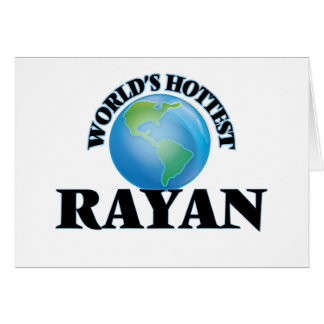 World's Hottest Rayan Stationery Note Card