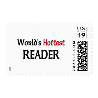 Worlds Hottest Reader Postage Stamp
