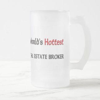 Worlds Hottest Real Estate Broker Frosted Glass Beer Mug