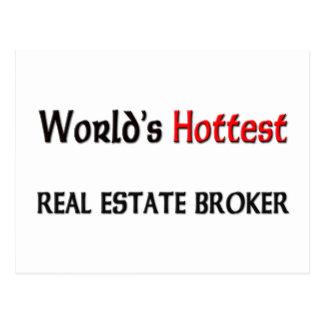 Worlds Hottest Real Estate Broker Postcard