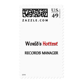Worlds Hottest Records Manager Postage Stamps