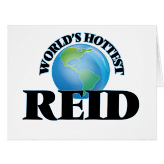 World's Hottest Reid Large Greeting Card
