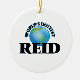 World's Hottest Reid Double-Sided Ceramic Round Christmas Ornament