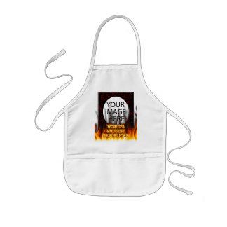 World's Hottest Republican fire and flames red mar Kids' Apron