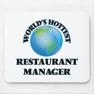 World's Hottest Restaurant Manager Mousepads