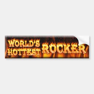 world's hottest rocker bumper sticker