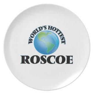 World's Hottest Roscoe Dinner Plate